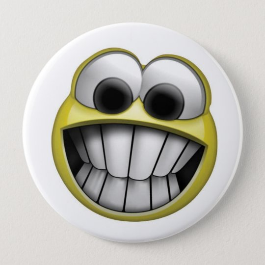 Smiley Face 10 Cm Round Badge