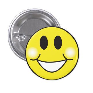 Smiley-Face 3 Cm Round Badge