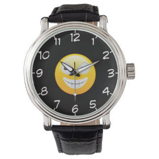Smiley Face 4 wrist watch
