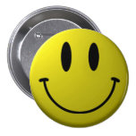 Smiley-Face 7.5 Cm Round Badge