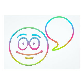 """Smiley Face - """"Add your own words"""" 13 Cm X 18 Cm Invitation Card"""