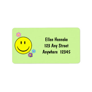 Smiley Face Address Label