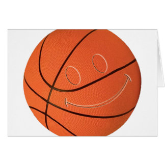SMILEY FACE BASKETBALL GREETING CARD
