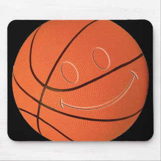 SMILEY FACE BASKETBALL MOUSE PAD