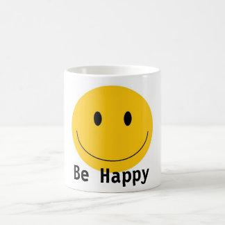 Smiley Face, Be Happy Coffee Mug