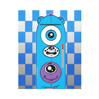 Smiley Face Bear Canvas Collection Stretched Canvas Print