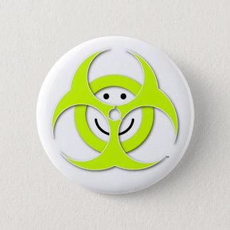 Smiley Face Biohazard Button
