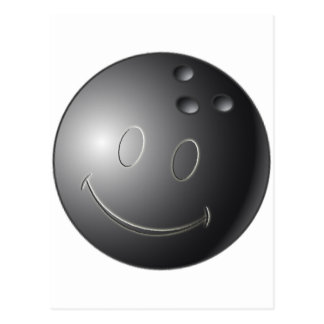 SMILEY FACE BOWLING BALL POSTCARD