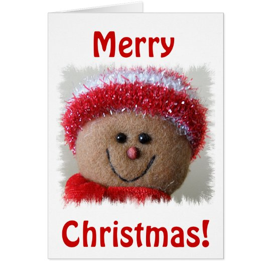 Smiley Face Christmas Card