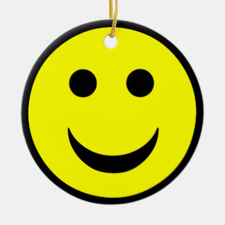 Smiley face christmas ornament