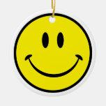 Smiley Face Christmas Ornament