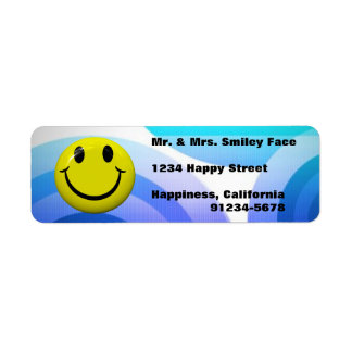 Smiley Face Colorful Return Address Labels