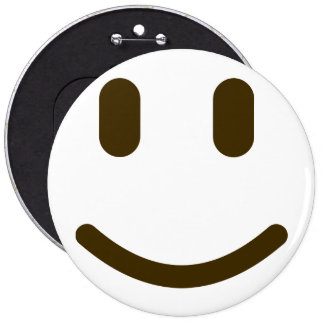 Smiley face Colossal, 6 Inch Round Button