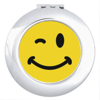 Smiley Face Compact Mirror