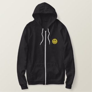 Smiley Face Embroidered Hoodie