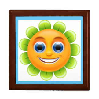 SMILEY FACE FLOWER LARGE SQUARE GIFT BOX