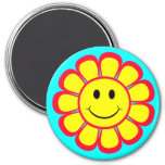 Smiley Face Flower Magnets