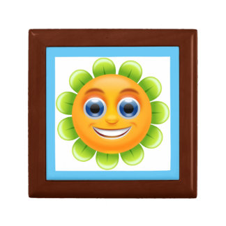 SMILEY FACE FLOWER SMALL SQUARE GIFT BOX