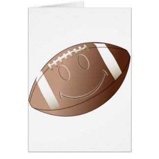 SMILEY FACE FOOTBALL GREETING CARD