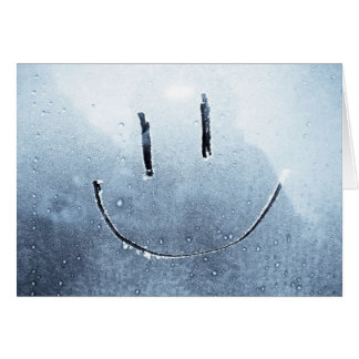 Smiley face frosted Blank Photo Card