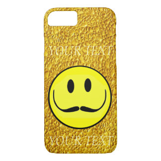 SMILEY FACE GOLD TEMPLATE CUSTOMIZE AWESOME GIRLY iPhone 7 CASE