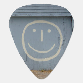 Smiley Face Graffiti Art Guitar Pick