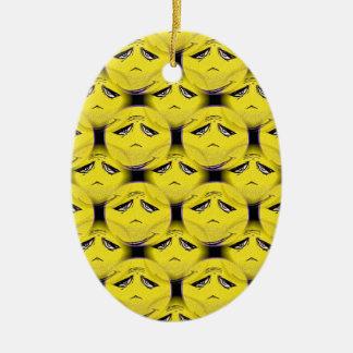 Smiley Face Guru Chorus Ceramic Oval Decoration