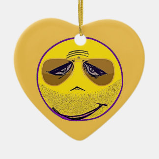 Smiley Face Guru Cool Christmas Ornament
