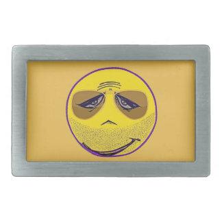 Smiley Face Guru Cool Rectangular Belt Buckles