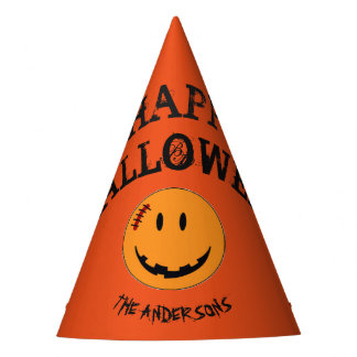 Smiley Face Halloween Style ID224 Party Hat