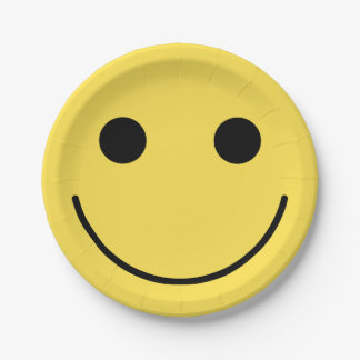 Smiley Face Happy Birthday Party Paper Plates