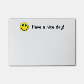 Smiley Face Have a nice day Post-it® Notes