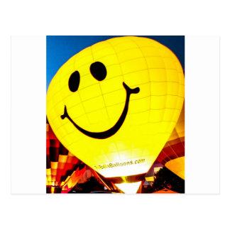 Smiley Face Hot Air Balloon Postcard