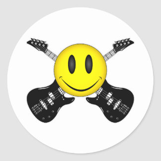 Smiley Face Humor Round Sticker