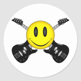 Smiley Face Humor Round Sticker