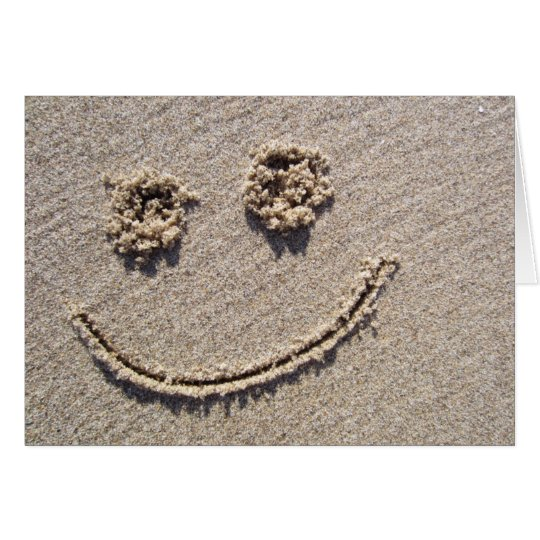 Smiley Face in the Sand Greeting Card