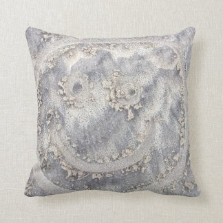 Smiley face in the sand. Original design cushion
