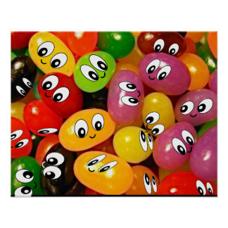 smiley face jellybeans poster
