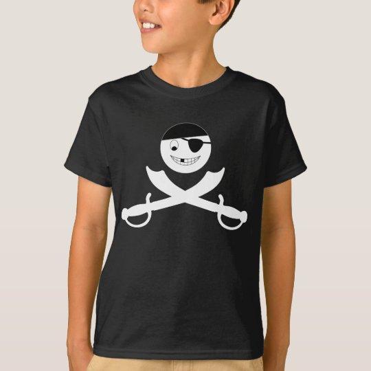 Smiley Face Jolly Roger T-Shirt