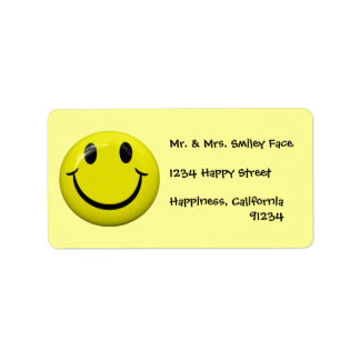Smiley Face Labels