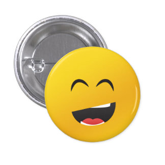 Smiley face Laughing 3 Cm Round Badge