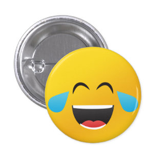 Smiley face Laughing with tears 3 Cm Round Badge