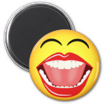 Smiley Face LOL Humour Laughing Funny Round Magnet