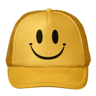 Smiley Face Mesh Hat