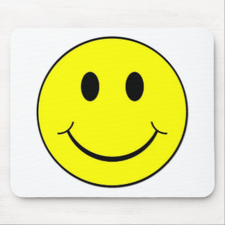 smiley face mouse pad