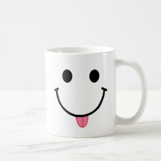 Smiley Face Mug Raspberry Tongue 11 or 15 oz mug