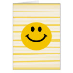 Smiley Face on sunny yellow stripes