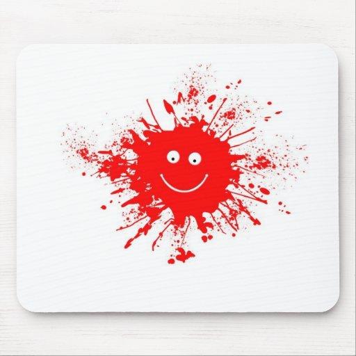 Smiley Face Paint Splash Mouse Pad