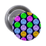 Smiley Face Pattern Design Pinback Buttons
