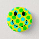 Smiley Face Polka Dots 3 Cm Round Badge
